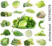 green vegetables | Shutterstock . vector #587598278