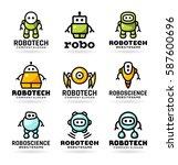 vector robots | Shutterstock .eps vector #587600696