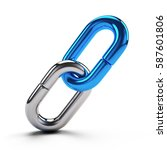 lock  connection concept  ... | Shutterstock . vector #587601806