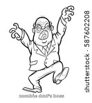 funny zombie dad's boss... | Shutterstock .eps vector #587602208