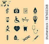 medical icons | Shutterstock .eps vector #587602268