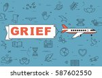 "airplane with banner ""grief"" on ... 