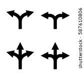 direction arrow sign set.... | Shutterstock . vector #587610806