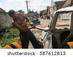 tarlungeni  brasov  romania ... | Shutterstock . vector #587612813