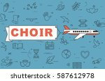 "airplane with banner ""choir"" on ... 