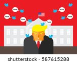 washington  dc  us   february... | Shutterstock .eps vector #587615288