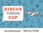 """airplane with banner """"discus... 