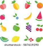 fruit   Shutterstock .eps vector #587619290