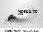 the mosquito of the particles.... | Shutterstock .eps vector #587623166