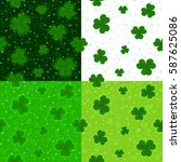 saint patrick's day green... | Shutterstock .eps vector #587625086