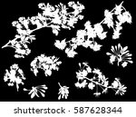 illustration with tree flowers... | Shutterstock .eps vector #587628344
