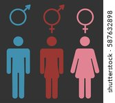 set of gender symbols with... | Shutterstock . vector #587632898