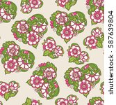 seamless floral vintage pattern ... | Shutterstock .eps vector #587639804