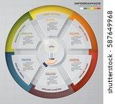 infographic design template 6... | Shutterstock .eps vector #587649968