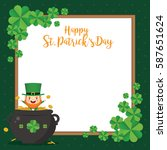 happy saint patrick's day... | Shutterstock .eps vector #587651624