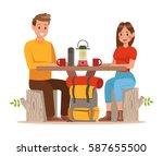 family lifestyle. family travel ... | Shutterstock .eps vector #587655500