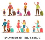 family lifestyle. family travel ... | Shutterstock .eps vector #587655578