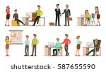 set of business characters... | Shutterstock .eps vector #587655590
