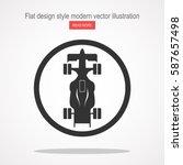 formula racing car icon | Shutterstock .eps vector #587657498