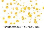 gold coins banner for st....   Shutterstock .eps vector #587660408