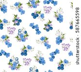vintage seamless  pattern with... | Shutterstock .eps vector #587665598