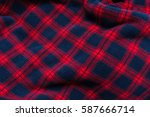 close up background of plaid...   Shutterstock . vector #587666714