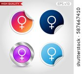 sex icon. button with sex icon. ...   Shutterstock .eps vector #587667410
