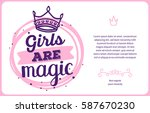 vector girlish card template... | Shutterstock .eps vector #587670230