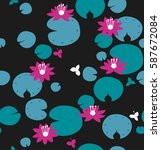 seamless natural pattern with... | Shutterstock .eps vector #587672084