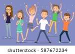 sound congratulate the success... | Shutterstock .eps vector #587672234