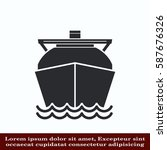ship icon  lng gas carrier ... | Shutterstock .eps vector #587676326