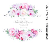 wedding floral vector design... | Shutterstock .eps vector #587677754