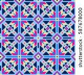 ethnic tribal pattern. seamless ... | Shutterstock .eps vector #587678000