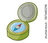 funny opened compass for... | Shutterstock .eps vector #587680298