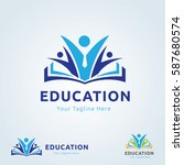 education and learning logo  | Shutterstock .eps vector #587680574