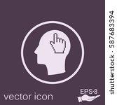 vector icon head think...   Shutterstock .eps vector #587683394