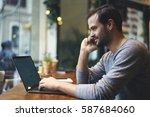 handsome male entrepreneur... | Shutterstock . vector #587684060