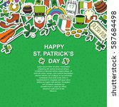 saint patrick's day traditional ...   Shutterstock .eps vector #587684498