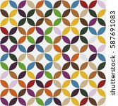 geometric seamless pattern... | Shutterstock .eps vector #587691083