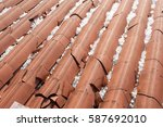 hail damage | Shutterstock . vector #587692010