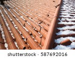 hail damage | Shutterstock . vector #587692016