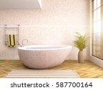 bathroom interior. 3d... | Shutterstock . vector #587700164