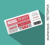 cinema ticket entrance icon | Shutterstock .eps vector #587703914