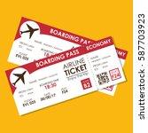 airline ticket flight icon   Shutterstock .eps vector #587703923