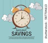 vector illustration of a banner ... | Shutterstock .eps vector #587704613