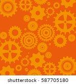 gears machine pattern background | Shutterstock .eps vector #587705180