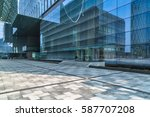 empty pavement and modern... | Shutterstock . vector #587707208