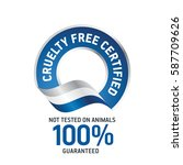 cruelty free certified blue...   Shutterstock .eps vector #587709626