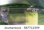 aerial of wind turbine view... | Shutterstock . vector #587712359