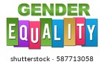 gender equality colorful...   Shutterstock . vector #587713058
